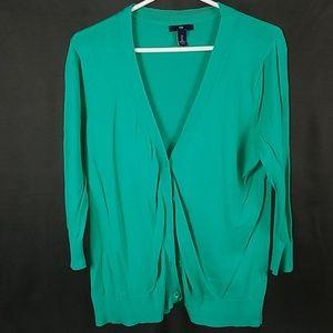 3 for $12- Gap large green Cardigan